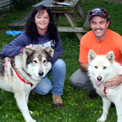 Tiponi and Kiona with their new mom & dad July 2009